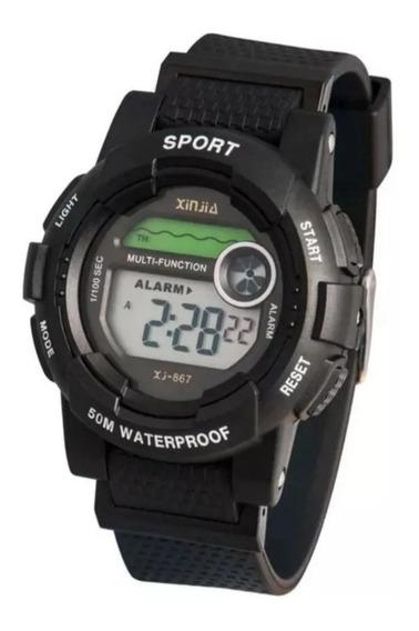Relógio Infantil Preto Original Xj-867 Envio Imediato