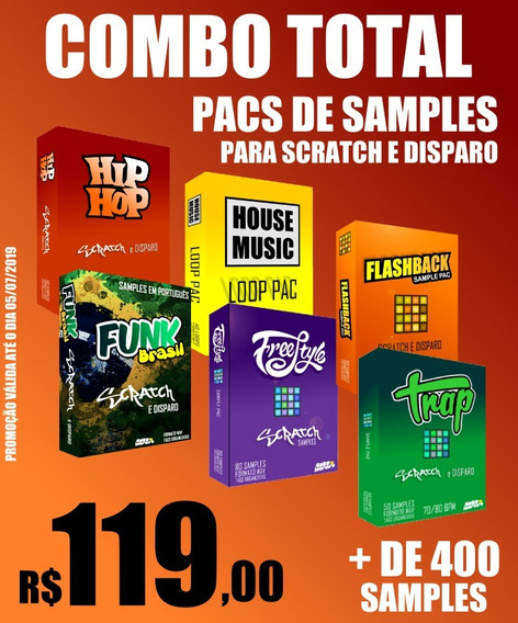 Combo Total - 6 Pacotes Com + De 400 Samples P/ Djs