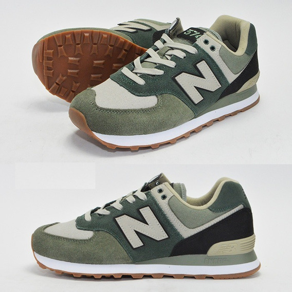new balance 574 verde oscuro