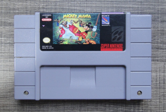 Mickey Mania Original - Super Nintendo Snes Lkc