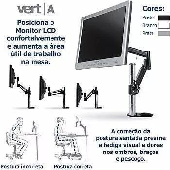 Suporte Monitor Articulado Mesa 13-23 Pol Air Micro 6 Und
