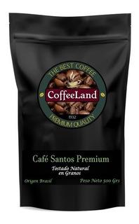 Café Tostado En Granos Coffeeland Santos Premium X 500 Gr.