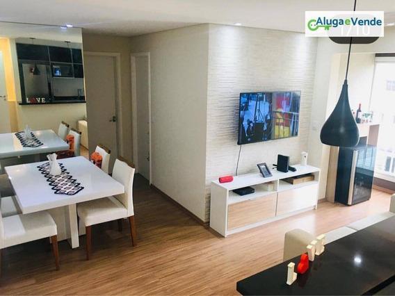 Apartamento Com 2 Dormitórios À Venda, Spazio Michelangelo, 51 M² Por R$ 300.000 - Vila Augusta - Guarulhos/sp - Ap0095
