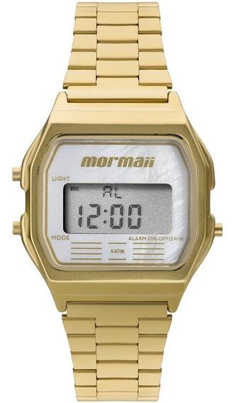 Relógio Mormaii Feminino Vintage Mojh02as/4b Digital Dourado