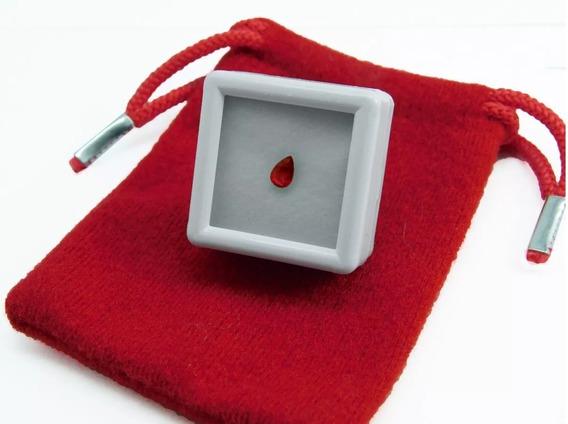 Rubi 100% Natural Pera Sangre De Pichón Precio Por 1 Pieza