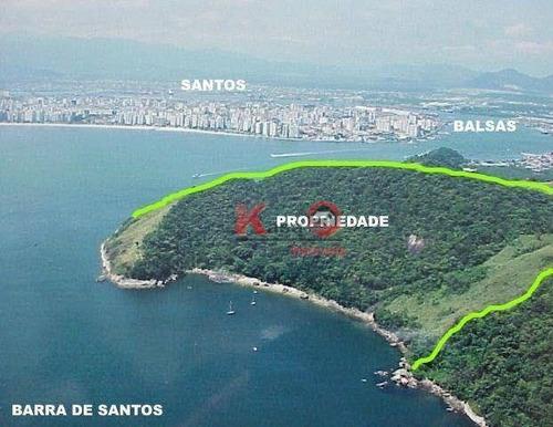 Terreno À Venda, 146000 M² Por R$ 12.000.000,00 - Jardim Guaiuba - Guarujá/sp - Te0134