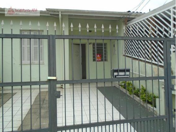 Casa Com 2 Dormitórios Para Alugar Por R$ 1.600/mês - Barra Funda - São Paulo/sp - Ca0040