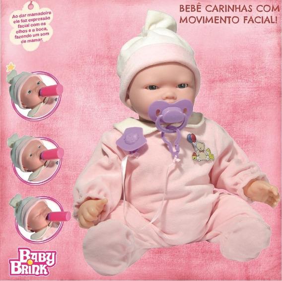 Boneca Bebê Carinhas C/ Expressão Real Chora,mexe