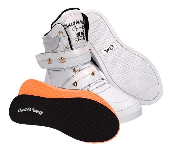 Tenis Botinha Sneaker Academia Treino Couro Cano Alto Fitnes