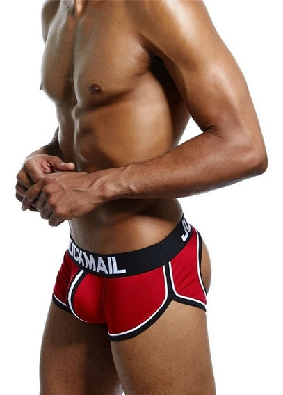 Cueca Boxer Pump Gay Jockmail Aberta Atrás