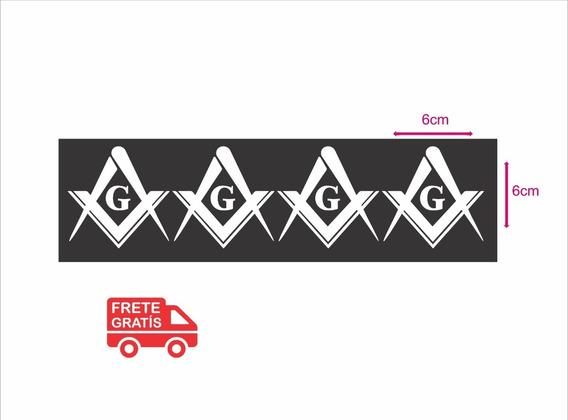Adesivo Maçonaria Kit Com 4 Adesivos Carro Frete Grátis
