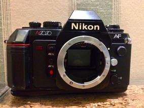 Câmera Nikon Analógica N2020 Af 35mm Foco Automático Ótima