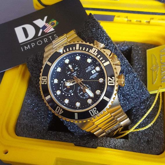 Relógio Invicta Pro Diver Original Banhado Á Ouro 18k