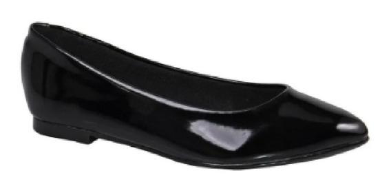 Sapatilha Moleca Sapato Bico Fino Verniz Confortável 5635100