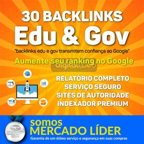 Comprar Backlinks 30 Edu E Gov Alta Autoridade Seo