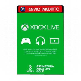 Xbox Live Gold Br Brasil Brasileira Usa Cartão 3 Meses