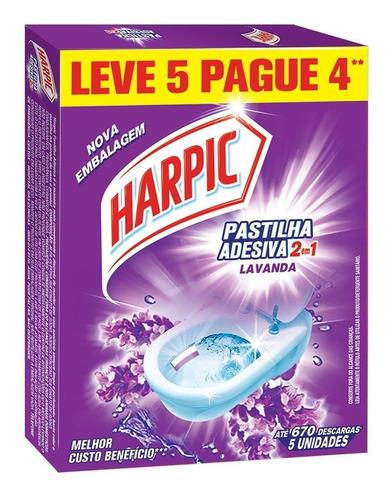 Imagem 1 de 1 de Pastilha Sanitária Harpic Lavanda Leve 5 Pague4 670 Descarga