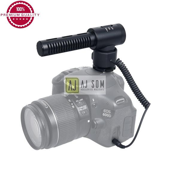Mic Shotgun P/câmera,fimadora-sony,canon,nikon,fujifilm