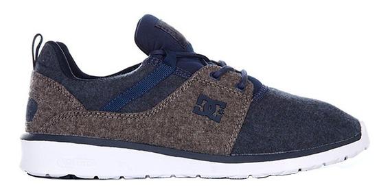 Tenis Hombre Heathrow Adys700071 Ngh Dc Shoes Gris/azul