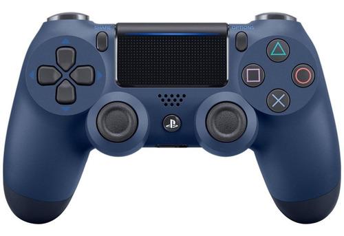 Imagen 1 de 3 de Control joystick inalámbrico Sony PlayStation Dualshock 4 midnight blue