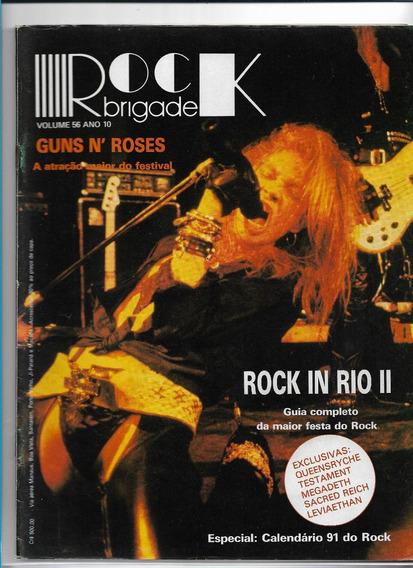 Rock Brigade 56 Revista Guns N´ Roses Com Pôster Fevereiro 1