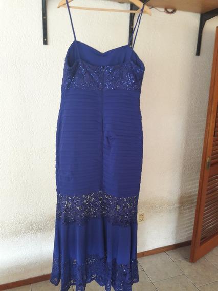 Vestido Fiesta Azul Nuevo Solo Se Uso Unas Horas