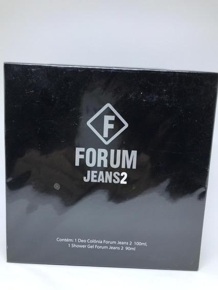 Kit Forum Jeans 2 Perfume + Gel De Banho Original Novo