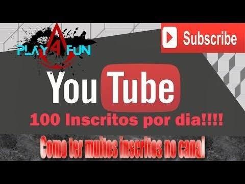 100 Inscritos Para Seu Canal