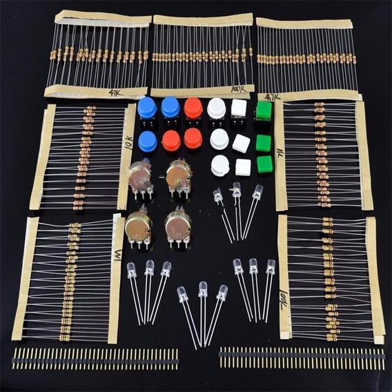 Kit De Componentes Eletrônicos Para Arduino Sarter Cursos