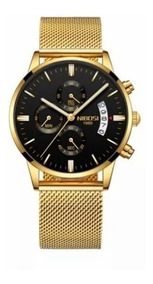 Relógio Masculino Com Caixa Nibosi 2309 A Prova D Água Luxo