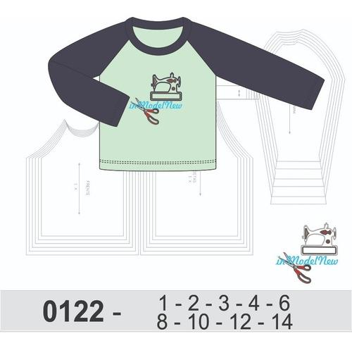 Molde Digital Camiseta Infantil De Proteção Uv