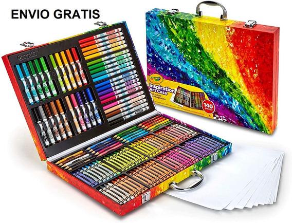 Crayones Plumones Colores Madera 140 Pzs Art Case-kits