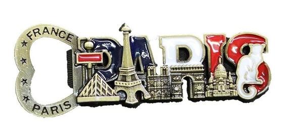 Recuerdo Paris Iman Destapador Decorativo 3d Torre Eiffel.