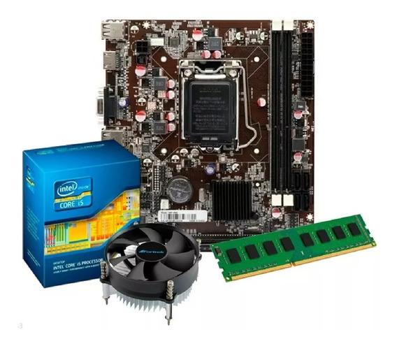 Kit Intel Core I5 2400 3.1 Ghz + Placa H61 + 4gb Ram Promoç