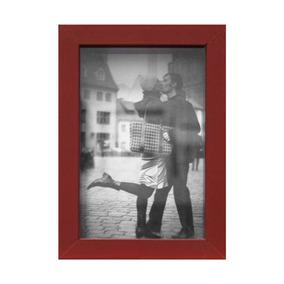Porta-retrato Caixa Liso Vermelho 15x10cm