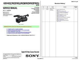 Manual De Serviço Sony Hxr-nx5