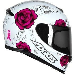 Capacete Feminino Rosa Branco Mt Axxis