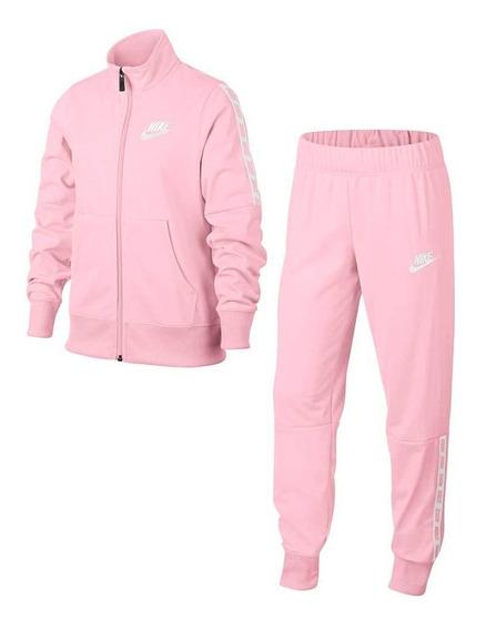 Agasalho Nike Meninia Tkr Suite Tricot Rosa 939456663