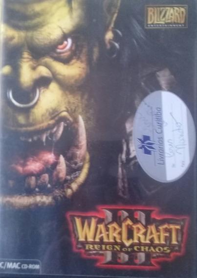 Jogo Pc Warcraft 3 Original - Manual Em Português