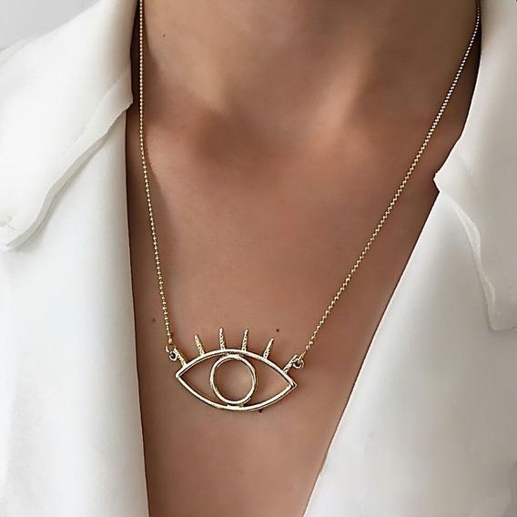 Promoção Colar Olho Grego Moda Blogueira
