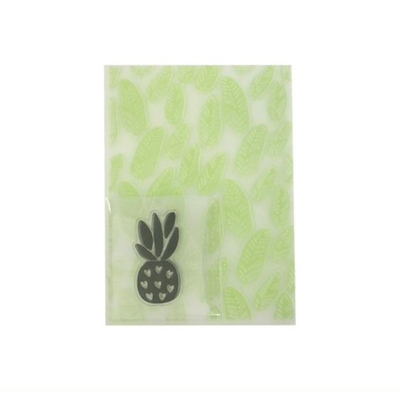 Carpera Texturizadora / Embossin Folder Leaves + Sello Pinea