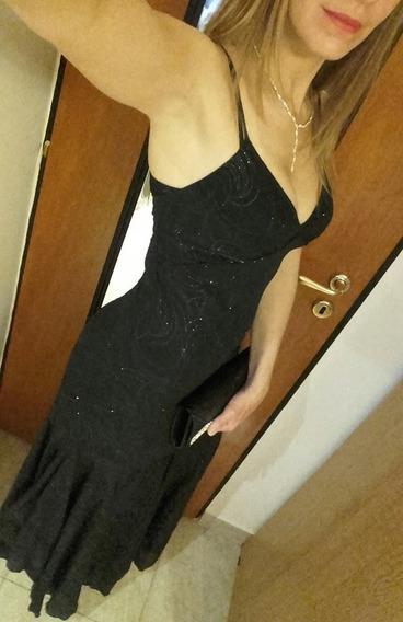 Hermoso Vestido De Fiesta, Un Solo Uso. Impecable!
