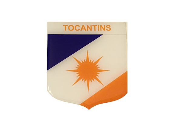 Adesivo Resinado Em Escudo Da Bandeira Do Tocantins