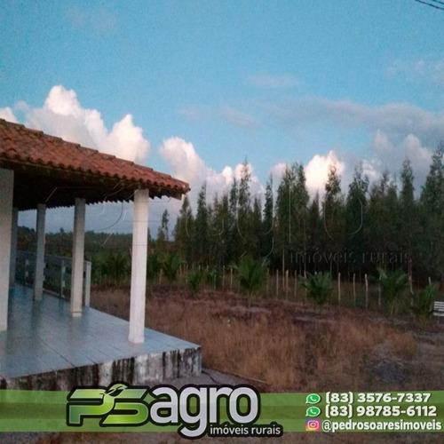 Imagem 1 de 4 de Fazenda Com 2 Dormitórios À Venda, 1590000 M² Por R$ 2.500.000,00 - Zona Rural - Pedras De Fogo/pb - Fa0021