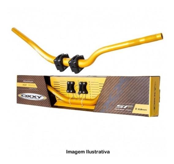 Guidão Oxxy Fat Bar Alto Dourado Adaptador Crf 230 Xre 300