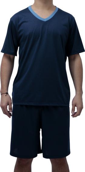 Pijama Adulto Masculino Camisa Gola V E Short