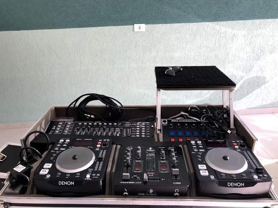 Kit Dj Com Cdj, Mixer, Dmx, Chaveadora.