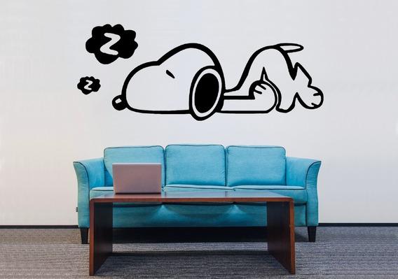 Adesivo De Parede - Snoopy Desenho Peanuts Cachorro Dog Pet