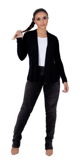 Blusa Sobrepor Cardigan Fitness