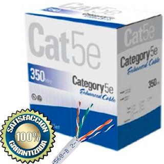 Rollo Cable Utp Cat 5e Interior Redes Internet 305mts Caja